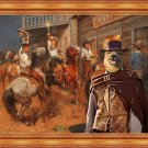 Australian Cattle Dog Fine Art Canvas Print - Sharp noon cowboys