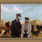 Australian Cattle Dog Fine Art Canvas Print - Trafalgar Square