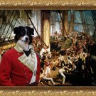 Australian Shepherd Fine Art Canvas Print - The Admira'ls victorians battle
