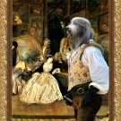 Bearded Collie Fine Art Canvas Print - At the artdealer's shop