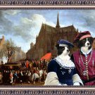 Border Collie Fine Art Canvas Print - Waiting for the statue of Mary