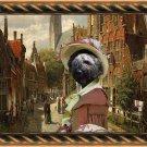 Bouvier des Flandres Fine Art Canvas Print - A walk through Flandres