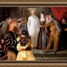 Briard Fine Art Canvas Print -  The Italian comedians