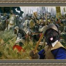Briard Fine Art Canvas Print -  Win or die!