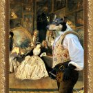 Collie Smooth Fine Art Canvas Print - The last auction