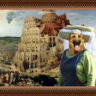 German Shepherds Fine Art Canvas Print - The Tower of Babel
