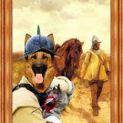 German Shepherds Fine Art Canvas Print  - Return home of the soldiers