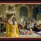 Malinois Fine Art Canvas Print - The queen and and her fools