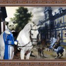 Pumi Fine Art Canvas Print - The riding school at the palace