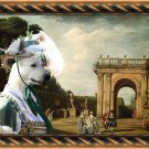 White Suisse Shepherd Fine Art Canvas Print - The afternoon promenade in Rome