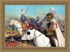 Bullmastiff Fine Art Canvas Print - war