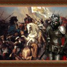 Cane Corso Fine Art Canvas Print - The battle of Jeanne d'Arc