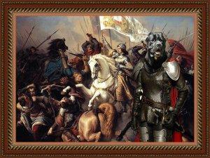 Cane Corso Fine Art Canvas Print - The battle of Jeanne d'Arc