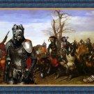 Cane Corso Fine Art Canvas Print - Swords and bravery