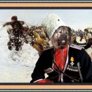 Caucasian Shepherd Dog Fine Art Canvas Print - Entertainment Cossacks