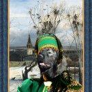 Caucasian Shepherd Dog Fine Art Canvas Print - The Winter Landscape