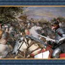 Dobermann Fine Art Canvas Print - Swords and glory