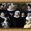 Dogo Argentino Fine Art Canvas Print - An Unknown Family in a Landscape