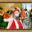Dogo Argentino Fine Art Canvas Print - Lorenzo and Isabella