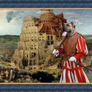 Dogo Canario Fine Art Canvas Print - The Tower of Babel