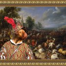 Dogue de Bordeaux Fine Art Canvas Print - Cavalery in the Battle