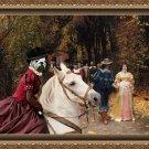 English Bulldog Fine Art Canvas Print - Les Fiances