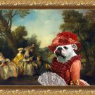 English Bulldog Fine Art Canvas Print - Concert in the Park