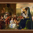 English Bulldog Fine Art Canvas Print - The Garden Party