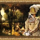 English Bulldog Fine Art Canvas Print - The galant ladies talks