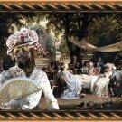 English Mastif Fine Art Canvas Print - The garden party