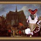 English Mastif Fine Art Canvas Print - Waiting for her turn