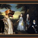 Great Dane Fine Art Canvas Print - The Jones Family