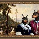 Miniature Pinscher Fine Art Canvas Print - The happy ceremony in park