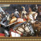 Miniature Schnauzer Fine Art Canvas Print - The faithful king's guard
