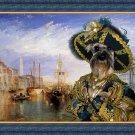 Miniature Schnauzer Fine Art Canvas Print - Casanova in Venice
