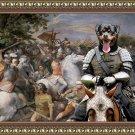 Rottweiler Fine Art Canvas Print - Brave Riccer in battle