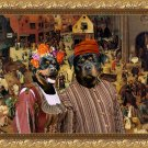 Rottweiler Fine Art Canvas Print - The Combat of Carnival