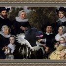 Schipperke Fine Art Canvas Print - An Unknown Family in a Landscape