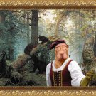 Shar Pei Fine Art Canvas Print - Lady owl and young bears