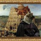 Sharplaninac Fine Art Canvas Print - The Tower of Babel