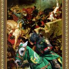 Standard Schnauzer Fine Art Canvas Print - In the middle of the battle