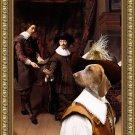 Bracco Italiano Fine Art Canvas Print - Constantijn Huygens and his Clerk