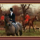 English Pointer Fine Art Canvas Print - The beginning of hunting foxes