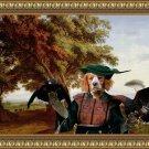 Epagneul Breton Fine Art Canvas Print - Italian Landscape with falconer