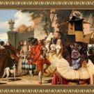 Epagneul de Pont Audemer Fine Art Canvas Print - Carnevale dance