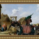 German Short Haired Pointer Fine Art Canvas Print - At the well