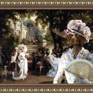 German Short Haired Pointer Fine Art Canvas Print - The Garden Party