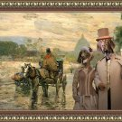German Short Haired Pointer Fine Art Canvas Print - The tired driver of diligance