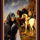 Gordon Setter Fine Art Canvas Print - Drive out with the Falcon in Algeria