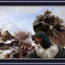 Gordon Setter Fine Art Canvas Print - Scaters on canal